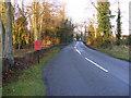 TM3066 : B1120 Badingham Road & Framlingham Road Postbox by Adrian Cable
