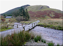 SN8355 : Irish Bridge over the Afon Irfon, Powys by Roger  Kidd