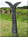 NS8467 : National Cycle Network milepost by Richard Webb