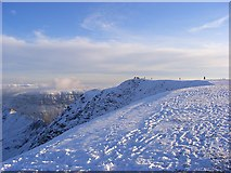 NY3415 : The top of Helvellyn by Andrew Smith