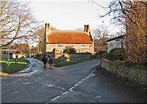 TG2834 : Village crossroads by Evelyn Simak
