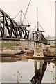 NZ2463 : Building the Metro Bridge across the Tyne, April/May 1978 by Donald MacDonald