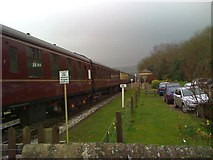 SD7920 : Train passing through Irwell Vale Station by John H Darch