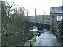 SD9827 : Rochdale Canal with Hebble End Bridge by Alexander P Kapp