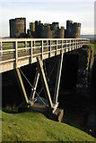 ST1587 : Footbridge at Caerphilly Castle by Philip Halling