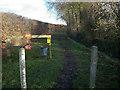 TL6657 : Bridleway through stud farm by Hugh Venables