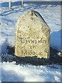 NY8912 : Marker for former township by Ian Dalgliesh