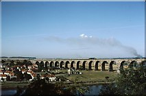 NT9953 : Deltic on the Royal Border Bridge by Peter Whatley