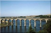 NT9953 : Berwick - Royal Border Bridge and River Tweed by Peter Whatley