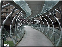 NT2574 : Bridge over Leith Street linking to St James Shopping Centre by Nick Barker
