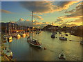 SH5638 : Dawn over Porthmadog Harbour by Ian Dalgliesh