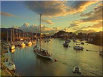 SH5638 : Dawn over Porthmadog Harbour by Ian Dalgliesh