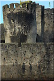 ST1587 : The leaning South-East Tower, Caerphilly Castle by Philip Halling
