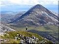 NR4873 : Fell runner descending Beinn a' Chaolais by Andrew Curtis