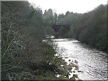 NS7354 : Looking upstream from Barncluith Bridge by Gordon Brown