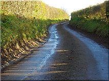 SO7334 : Road to Bromesberrow, near Clenchers Mill by Bob Embleton