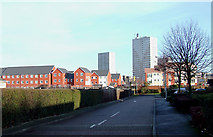 SO9299 : New housing towards Heath Town, Wolverhampton by Roger  Kidd