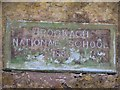 H0137 : Plaque, Brockagh National School by Kenneth  Allen