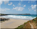SW9379 : Polzeath beach at low water by Andy F