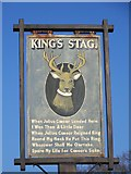 ST7210 : Village sign, King's Stag by Maigheach-gheal