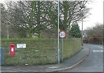 SE1421 : Letter box, Huddersfield Road, Rastrick by Humphrey Bolton