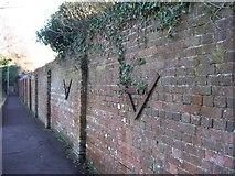SU5806 : Ancient Brick Wall - Fareham by Colin Babb