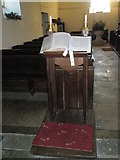 SU8014 : The lectern St Peter, East Marden by Basher Eyre