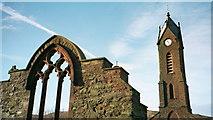 SC2484 : Ruins of St Peters Church, Peel by Andy Evans