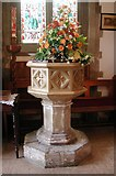 TQ0682 : St Laurence, Cowley - Font by John Salmon
