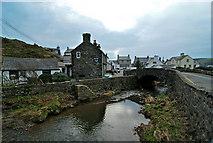 SH1726 : Aberdaron and Afon Daron by Dave Croker