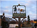 TM2677 : Fressingfield Village Sign by Adrian Cable