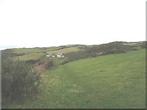 SH4094 : View east along the coastal path in the direction of Castell by Eric Jones