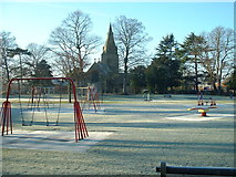 SK6443 : The Roberts Recreation Ground in the frost by johnfromnotts