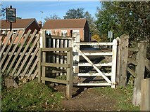 SK6443 : Kissing gate at the Lord Nelson railway crossing by johnfromnotts