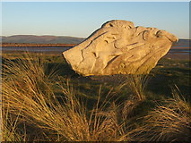 SD1578 : Sculpture overlooking Haverigg beach by Andrew Hill