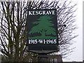 TM2145 : Kesgrave Village Sign by Adrian Cable