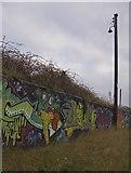 TA0626 : Riverside Graffiti by Paul Harrop