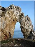 SH4094 : The Porth Wen Sea Arch by Eric Jones