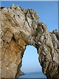 """SH4094 : The """"Keystone"""" of the Sea Arch at Porth Wen by Eric Jones"""