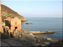 SH4094 : Porth Wen Brick Works - brick drying area and workshops by Eric Jones