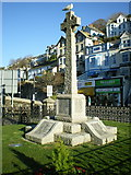 SX2553 : War memorial in East Looe by Richard Law