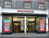 TQ4210 : Woolworths about to close in Lewes, East Sussex by Roger  Kidd