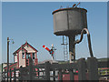 TQ8326 : Signal box and water tower, Northiam station by Stephen Craven