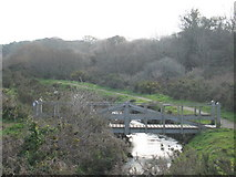 SW5932 : Footbridge over the River Hayle at Godolphin Bridge by Rod Allday