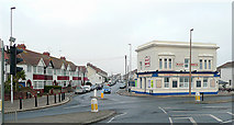 TQ1602 : The Half Brick and Ham Road (wide angle), East Worthing by Roger  Kidd