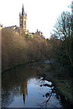 NS5666 : River Kelvin and Glasgow University by Mike Pennington