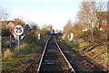 SX9688 : Looking along the railway line to Topsham Station by N Chadwick
