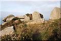 SW4237 : Coastal path near Bosigran by Bob Jones