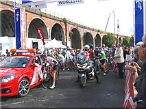 SO8455 : Tour of Britain Start of stage from Worcester. by Roy Hughes