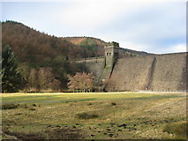 SK1789 : Derwent Dam Wall and Tower by Alan Heardman